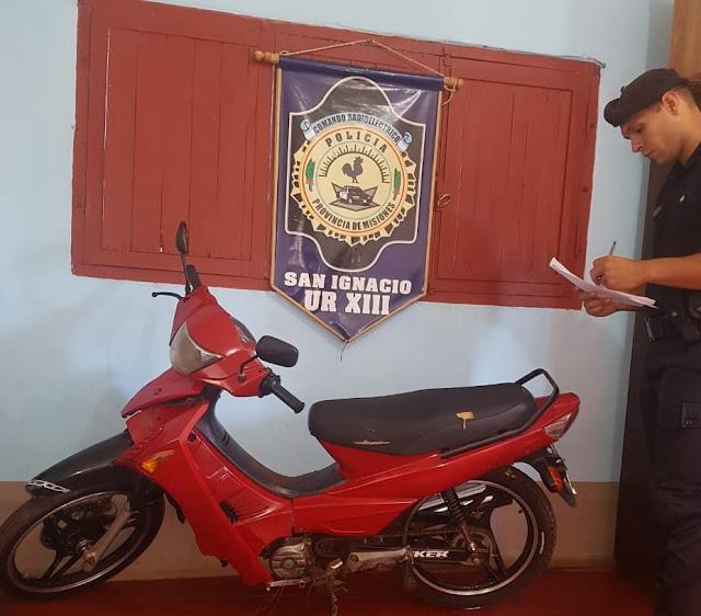 La Policía recuperó una moto robada