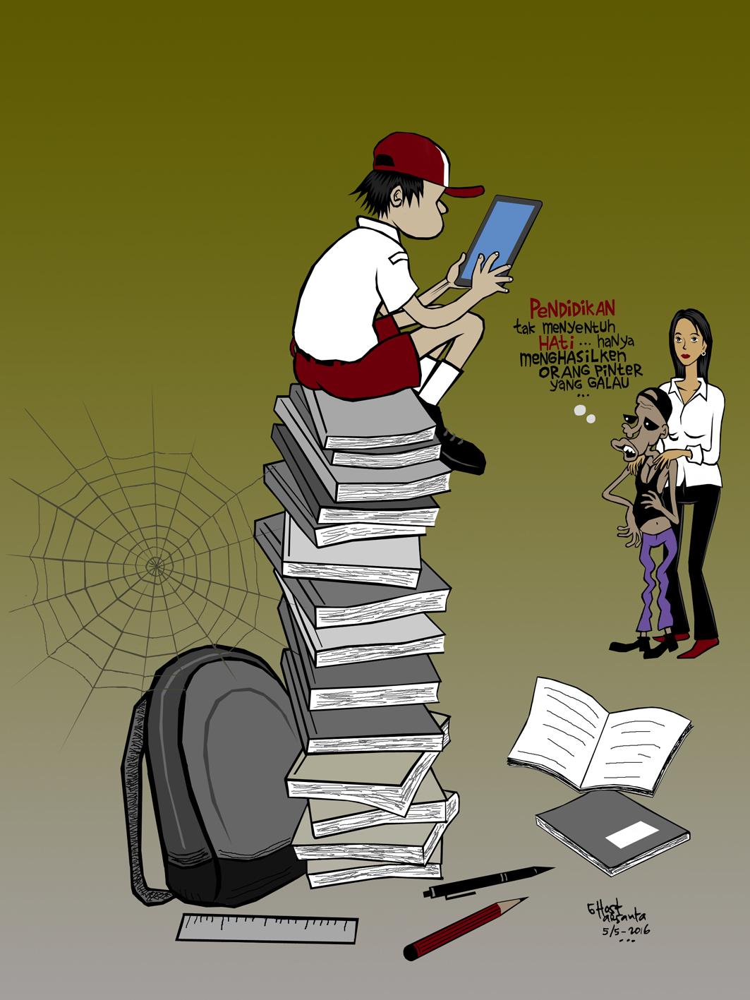 Gambar Kartun Hari Pendidikan Nasional Gokil Abis