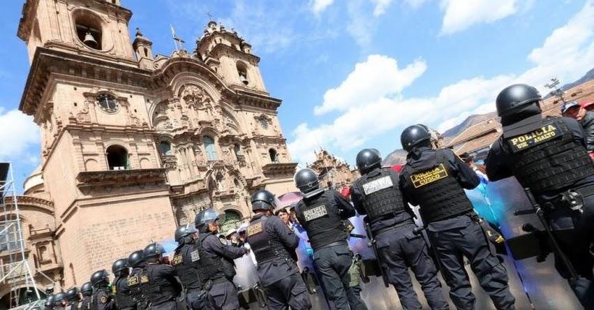 SUTEP toma la Plaza de Armas del Cusco y amenazan con boicotear el Inti Raymi