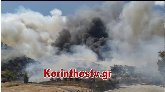 Κόρινθος: Μάχη με τις φλόγες στις Κεχριές - Εκκενώθηκε ο οικισμός Ντράσσα