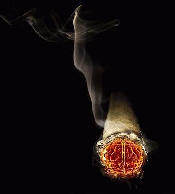 Fotomontaje  con cigarro
