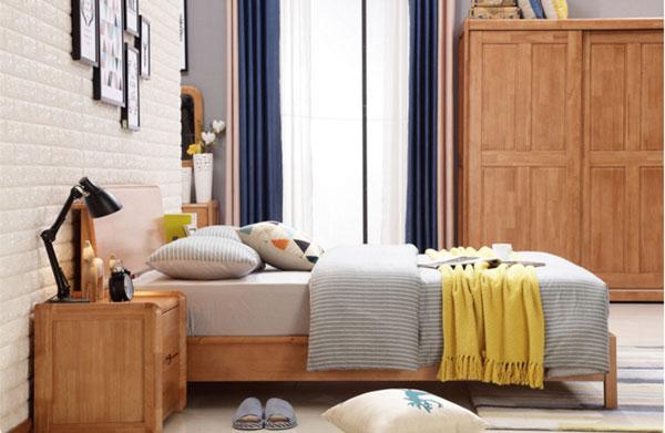 giường ngủ làm bằng gỗ thông minh