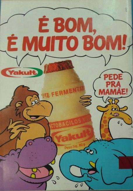 Propaganda antiga do Yakult nos anos 90 veiculados nos gibis da época