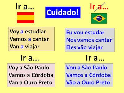 """El uso de las preposiciones con el verbo """"ir"""" en portugués"""