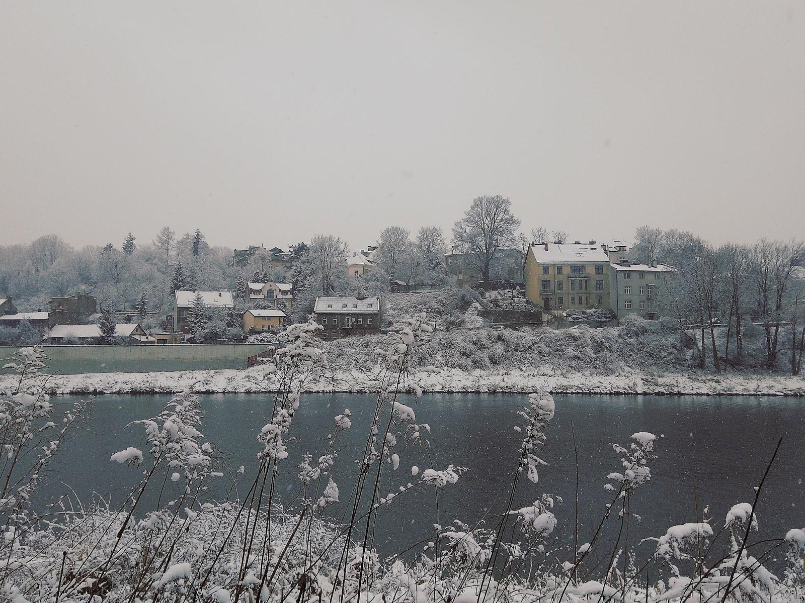 Bulwary Wiślane zimą
