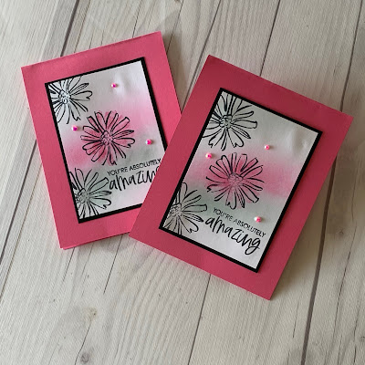 Two floral handmade greeting cards using Stampin' Up! Color & Contour Stamp Set