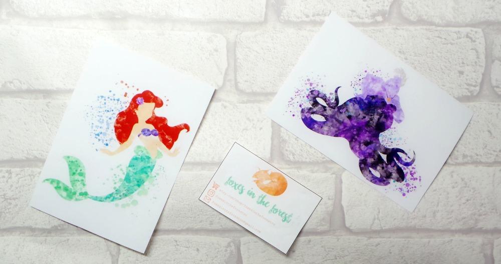 little mermaid prints