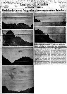 La noticia del OVNI de la isla de Trinidad en la prensa brasileña