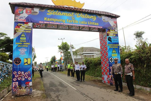Kampung Tertib Lalu Lintas Dinilai Dit Lantas Polda Lampung