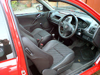 MG ZR Half Leather Matrix Seats