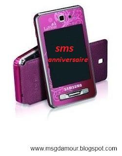 SMS d'anniversaire - modèle de texte de voeux d'anniversaire