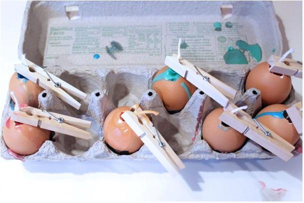 adım adım yumurtadan mum yapımı