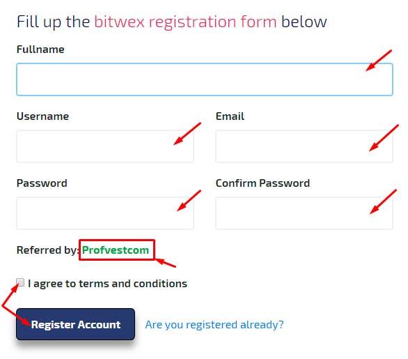 Регистрация в Bitwex Limited 2