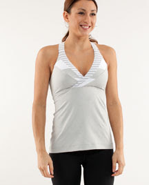 lululemon deep breath yoga tank silver spoon