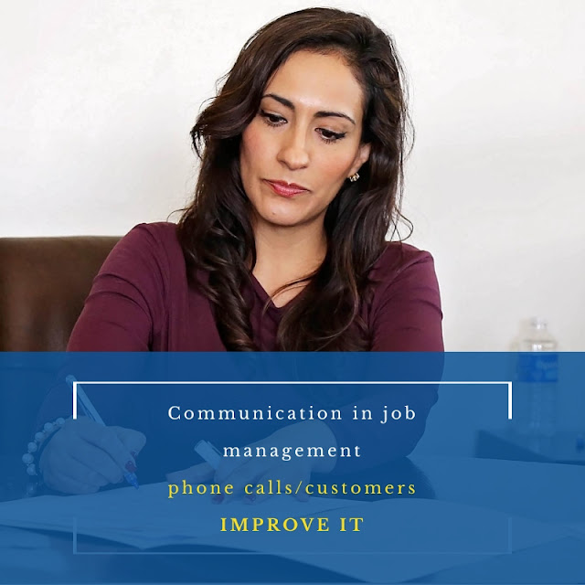 Communication in job management