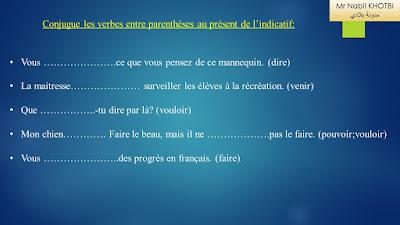 exercices conjugaison CM2