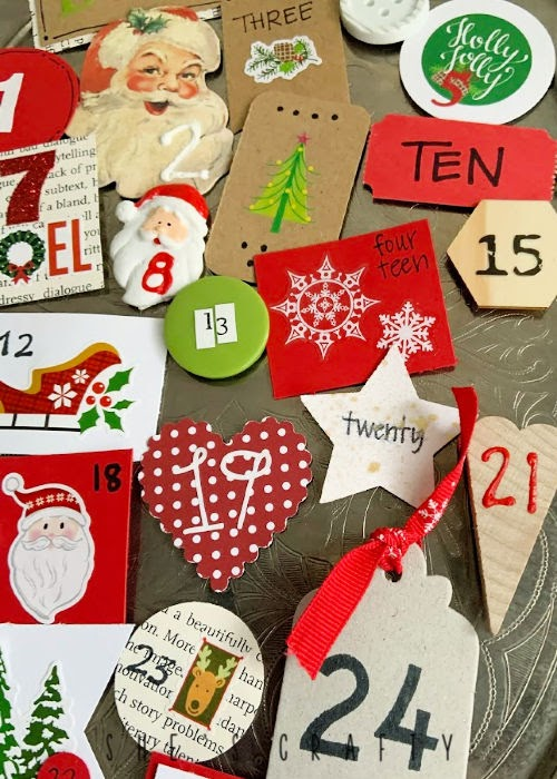 Magnetic Advent Calendar for Christmas