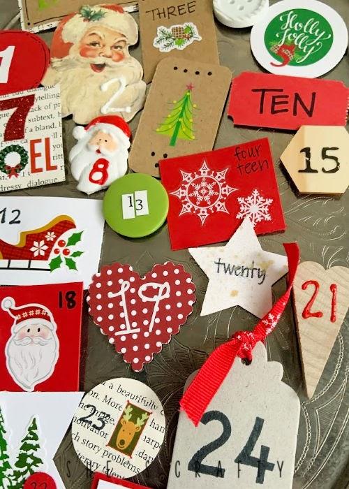 Magnetic Advent Calendar for Christmas