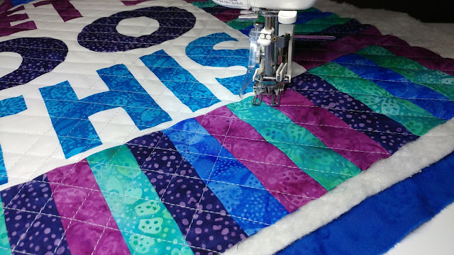 Cross-hatch quilting with a walking foot on my Juki