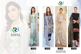 R9 Designer Sofia Georgette  Pakistani Suits Collection In Wholesale rate