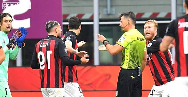 Kontroversial, Wasit Laga AC Milan Vs AS Roma Diskors