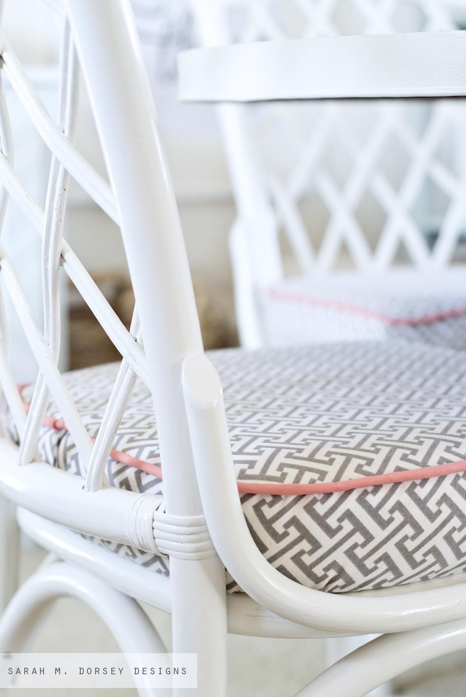 Sarah M Dorsey Designs Refinishing Rattan Chairs