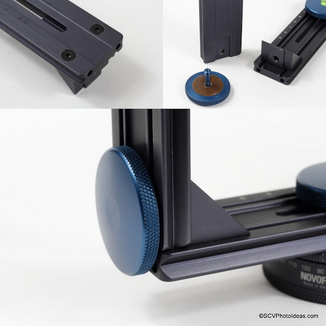 Novoflex VR-System Slim Horizontal and Vertical rail connection via thumb screw