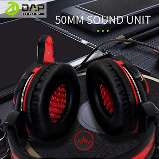 Headset Gaming DAP DH-F9 Headphone E-Sport Super Bass Stereo With Mic - BLACKRED