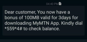 MTN-myapp-free-data-100mb