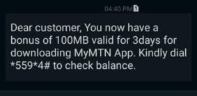 MTN-myapp-free-data-100mb