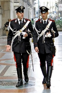 Carabinieri officers still wear elaborate dress uniform