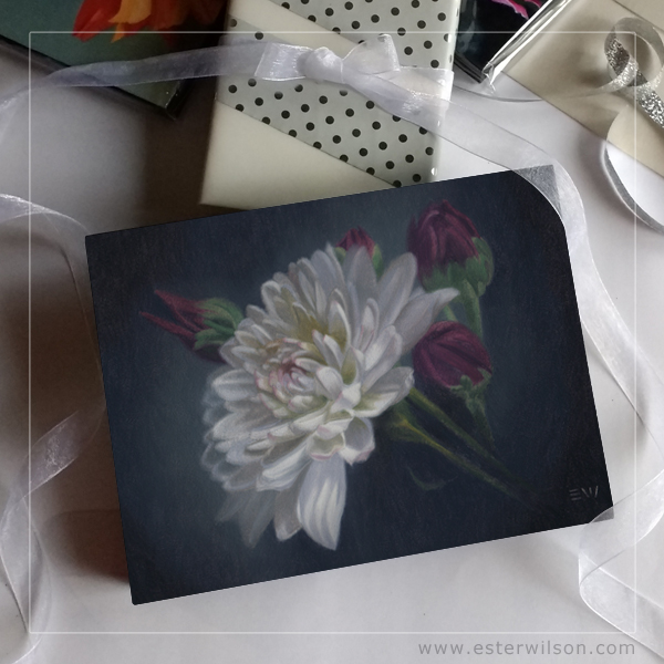 chrysanthemum, Mum oil painting