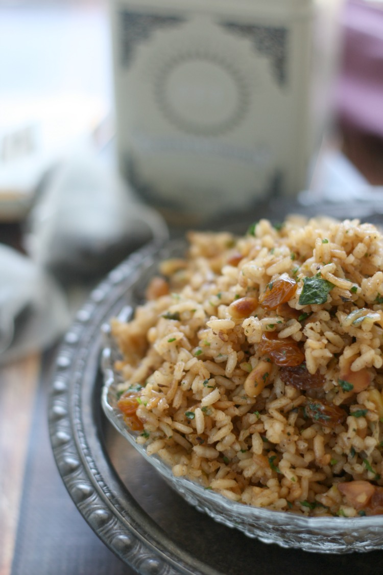 Vanilla Black Tea Rice Pilaf