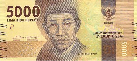 uang baru 5 ribu rupiah 2016 depan