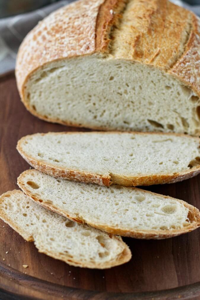 Whipped Spelt Bread slices