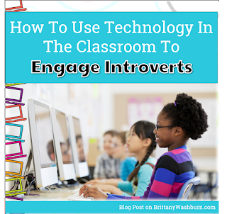Technology is a great way to engage more introverted students in the classroom. No matter what you teach, differentiated learning with technology is a great way to get those more shy and introverted kids involved in classroom activities and responses. Technology can also give them the opportunity to showcase their talents and proficiency without putting them on the spot.