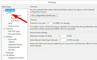 "Steps to resolve ""Connection Refused Timeout error"" in Filezilla