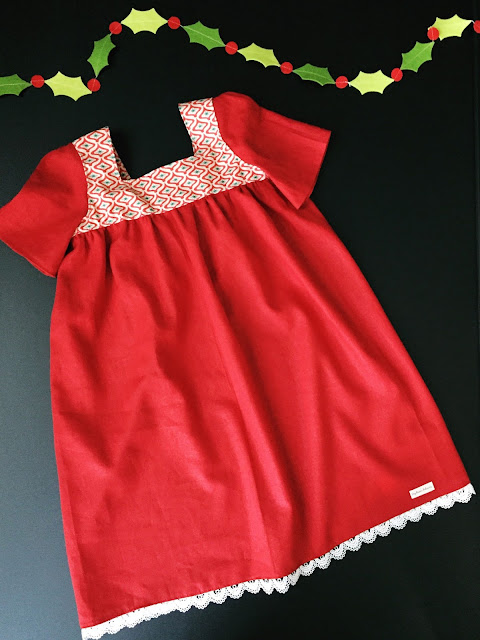 Mod Christmas Dress for Toddlers, Girls, Tweens by Daydream Believers Designs