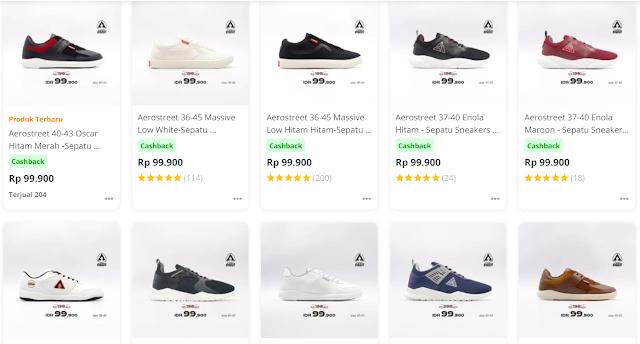 Rekomendasi sepatu murah wanita dan pria,jawabanya adalah Aerostreet