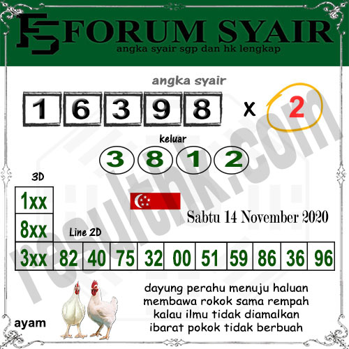 Forum Syair SGP Sabtu 14 November 2020