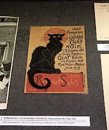 Chat Noir handbill in museum