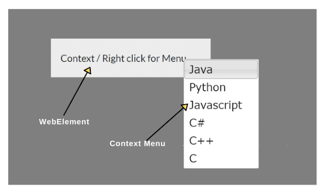 How to Right Click on WebElement in Selenium