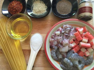 Bahan Bahan Resepi Spaghetti Seafood Aglio Olio Noxxa