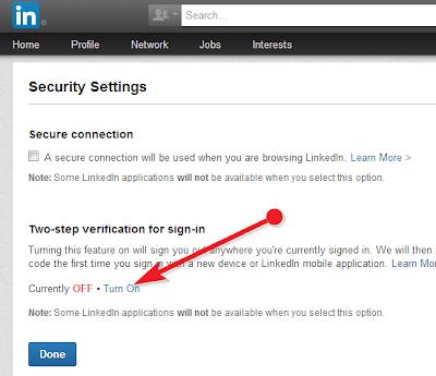 LinkedIn Enabled Two set  verification