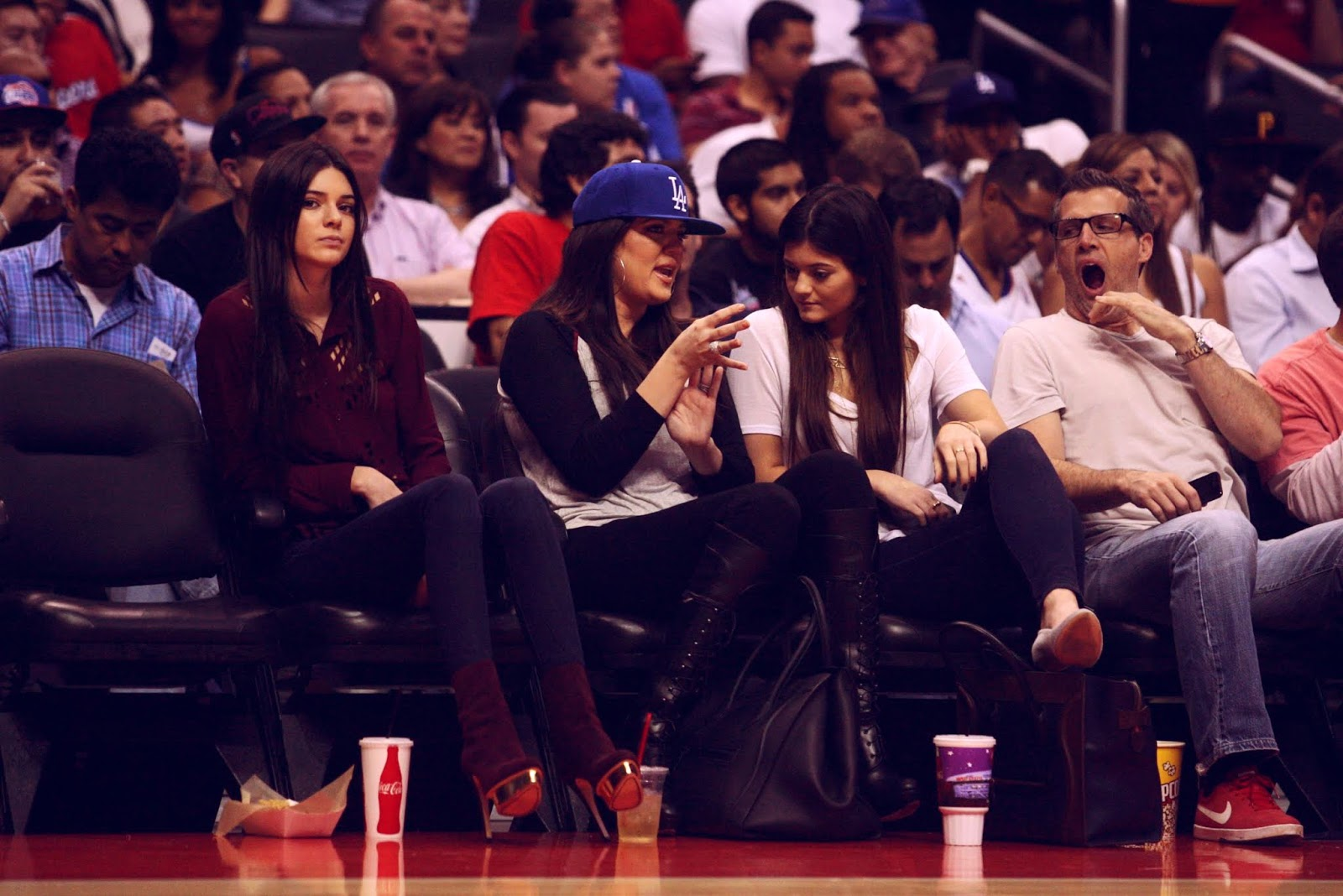 12 - Watching The Los Angeles Clippers Game on October 17, 2012