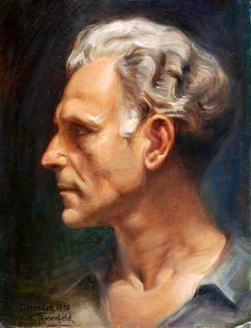 Alexander Rosenfeld, Self Portrait, Portraits of Painters, Fine arts, Portraits of painters blog, Paintings of Alexander Rosenfeld, Painter Alexander Rosenfeld