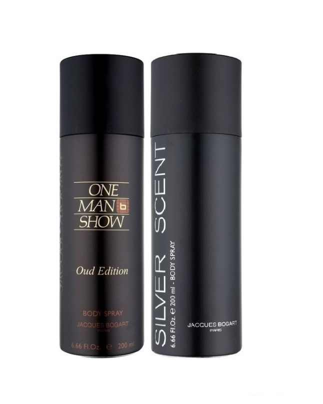 Pack Of 2 - One Man Show Oud Edition And Silver Scent Body Spray 200 ml