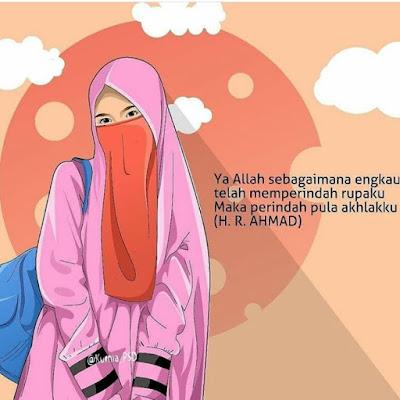 Kartun DP BBM Muslimah Bercadar
