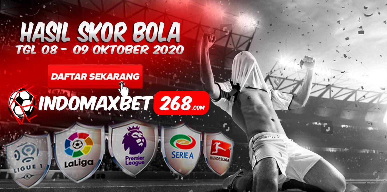 Hasil Pertandingan Sepakbola Tanggal 08 - 09 Oktober 2020