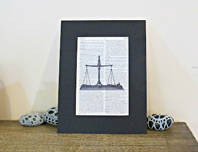 image scales of justice wall art lawyer gift balance vintage dictionary page domum vindemia